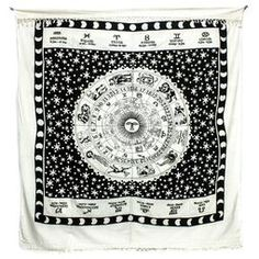 Black And White Zodiac Throw Black, White @ Norbu Large Throws, Double Bed Size, My Ideal Home, Zodiac Horoscope, Bed Sizes, Sterling Silver Earrings, Cosy, Black And White, Deco