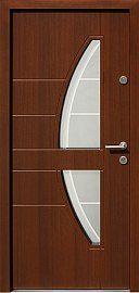 Drzwi zewnętrzne nowoczesne model 445,11+ds1 w kolorze orzech