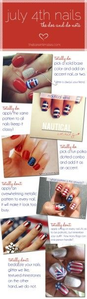 July 4th Nails -the dos and do nots!