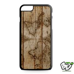 Old World Map Wood iPhone 6 Plus Case | iPhone 6S Plus Case