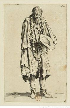 [Les gueux]. [11], [Le mendiant au rosaire] : [estampe] / [Jacques Callot]   Gallica