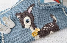 indie june: Little Deer Blanket by Little Doolally on the LoveCrochet blog