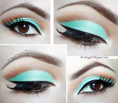 Mint Green Cut Crease Makeup #Lizbreygel #eyemakeup #eyes #howto - bellashoot.com