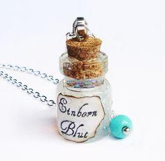 Glasfläschchen Halskette ♥Einhornblut♥ H. Potter