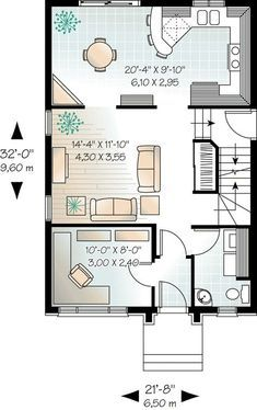 House Plan 64940 Level One