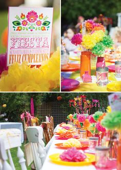 Perfect for my little Cinco de Mayo birthday girl.... Bright and Cheerful Mexican Fiesta Birthday Party