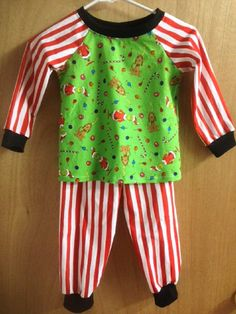 The Grinch Christmas Pajamas boys size 4t by SewMeems on Etsy