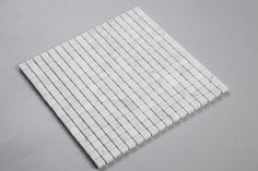 "Carrara Carrera Bianco 5/8"" Square Natural Stone Mosaic Tile"
