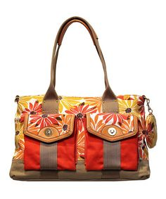 Take a look at this Orange Sunflower Middletown Tote by Franco Sarto on #zulily today! $45
