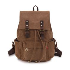 School Backpacks, Vintage Canvas Backpack, Classic College School Laptop Backpack for Boys, Girls, Student Weekend Bag ** This is an Amazon Affiliate link. Continue to the product at the image link.