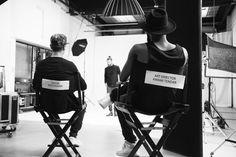 Distorted People Behind The Scenes : Creative & Art Director watching the scene