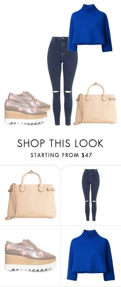 """""""Distorted"""" by black-wings ❤ liked on Polyvore featuring Burberry, Topshop, STELLA McCARTNEY and Vika Gazinskaya"""