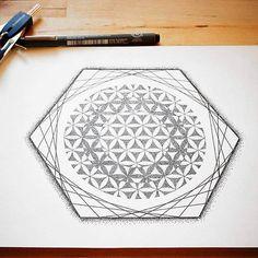 The underlying structure of all life..... #FlowerOfLife #Design #TattooDesign  #SacredGeometry #SacredPattern #SpiritualSymbol #AncientSymbol #ancient #UniverseConnection #Psichedelic #PortalToOtherDimensions #mandala #mandalaart #mandalatattoo
