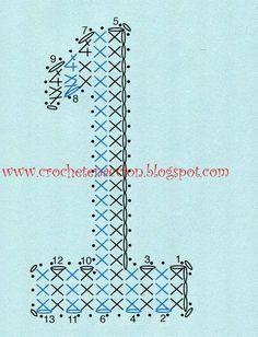 letras en 3D a crochet - Buscar con Google