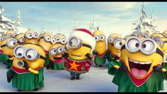 Minions Singing Jingle Bells - Merry Christmas Everybody! Amor Minions, Minions Love, Minions Despicable Me, Minions Quotes, Minions Cartoon, Merry Christmas Minions, Christmas 2014, Christmas Humor, Merry Xmas