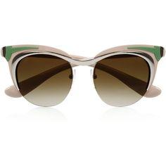 Prada Cat eye acetate sunglasses ($445) via Polyvore