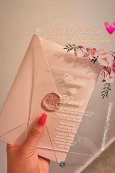 pink floral acrylic clear wedding invitations #wedding#weddinginvitations#stylishwedd#stylishweddinvitations #vellumweddinginvitations