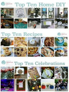 I've gathered my Top Ten posts in a few popular categories.  Simple DIY projects you can actually do. Recipes your family will actually eat. And simple ways to celebrate your latest event. See more on Today's Creative Life.