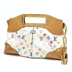 Louis Vuitton Judy MM Monogram Multicolore Shoulder bags White Canvas M40255