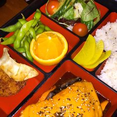 Salmon Bento Box  @ Kyoto, London (Japanese Food)   Review: http://BestFoodinLondon.co.uk/kyoto-sushi-restaurant