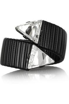 Blackened Swarovski crystal cuff