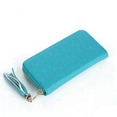 Michael Kors Logo Signature Tassel Small Blue Wallets