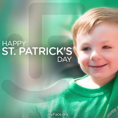 Happy #StPatricksDay! Sending you all a smile from our #myFaceStar, Patrick! #StPattysDay #smile