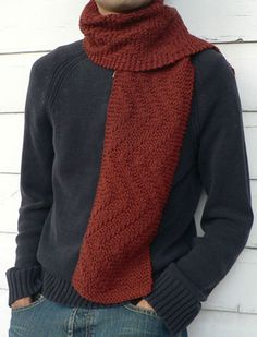 Sweet Paprika Designs - Rambler's Scarf knitting pattern by Elizabeth Sullivan  Photo © Sweet Paprika Designs