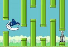 Flappy Bird: Canucks Edition. I love the Canucks, but sadly this is true.