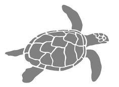 Sea Turtle Airbrush Wall Art Paint Stencil Genuine Mylar re ...