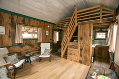 The Moonshine: an eco-friendly cabin composed of reclaimed and recycled materials, and built by Hobbitat!