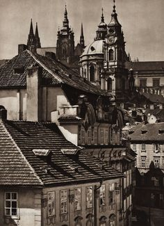 Karel Plicka shot fine monochrome photographs of Prague from the and documented a dark and mysterious Prague, a gothic and baroque Praha which. Prague Czech, Old World, Big Ben, Baroque, Monochrome, Mystery, Gothic, Photography, Goth