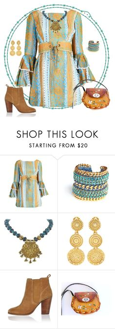 """""""Boho Chick"""" by yvonnewarren ❤ liked on Polyvore featuring Miss High & Low, Oscar de la Renta and River Island"""
