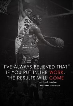 Michael Jordan knew what he was talking about.