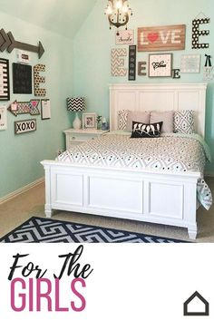 Create a bedroom that captures her style! Add pops of pink with teal and black for a fun tween bedroom featuring the Prentice panel bed.