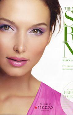Macys Ad.  Makeup by @davidmaderich