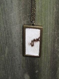 Zebra Skin Necklace Taxidermy Jewelry Pendant Oddity Curio Bizarre