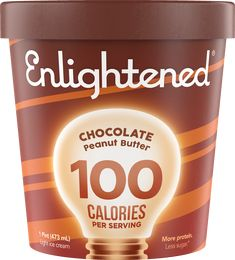 Creamy peanut butter swirled through rich chocolate ice cream, this Enlightened pint is the ultimate indulgence (even with only 360 calories in the entire pint)! This is the high protein, low sugar ice cream you've been looking for. Try Enlightened today! Low Sugar Ice Cream, Peanut Butter Ice Cream, Best Ice Cream, Chocolate Ice Cream, Chocolate Peanut Butter, Healthy Ice Cream Brands, Enlightened Ice Cream, Eating For Weightloss, 100 Calories