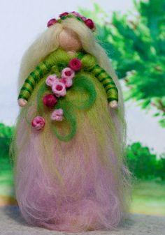 wool fairy, Frühlingsfee, Filz, felt, wool, fairy, craft
