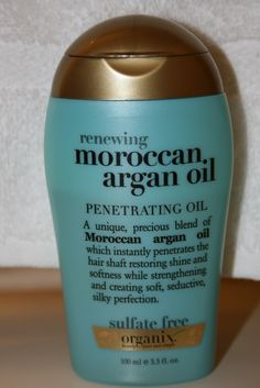 Organix Moroccan Argan Oil...I just use this on my ends or when my hair's been growing out too long between trims. Loove this stuff!