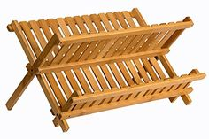 dish racks Purchase Sagler wood dish rack plate rack Collapsible Compact dish drying rack Bamboo dish drainer at Discounted Costs FREE DELIVERY doable on eligible purchases.