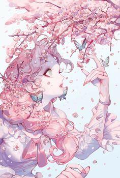 Art Anime, Anime Art Girl, Manga Art, Manga Anime, Anime Style, Fantasy Kunst, Fantasy Art, Pretty Art, Cute Art