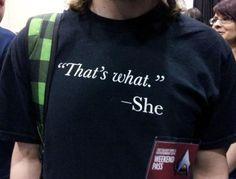 Great t-shirt :)