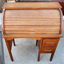Antique Child S Roll Top Desk