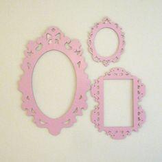 Pink Decorative Cardboard Frames - Photobooth Prop Wall Decor. $25.00, via Etsy.
