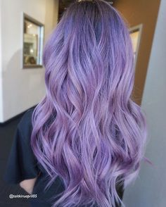 behindthechair americansalon lavenderhair modernsalon lavender baby pink LAVENDER BABY PINKYou can find Lavender hair and more on our website Purple Hair Tips, Deep Purple Hair, Hair Color Purple, Hair Dye Colors, Pink Hair, Purple Style, Green Hair, White Hair, Blue Hair