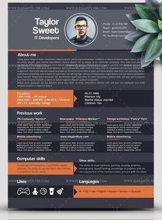 I will Design For You a killer infographic resume CV with Professional and Creatively design under 24h, cv Resume Idea , professional designer cv resume, Cv resume design for designer, Creative cv resume, Place your order Now WITH CONFIDENCE. Graphic Design Resume, Cv Design, Page Design, Simple Resume, Modern Resume, Best Resume Template, Resume Design Template, Creative Resume, Creative Design