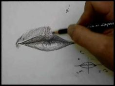 How to draw a mouth by virtual instructor