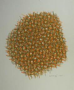 Piero Dorazio, 1961, colored crayon and pastel on cardboard