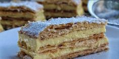 How to make the Best Mille Feuille - Jim Michailidis Italian Desserts, Sweet Desserts, Dessert Recipes, French Deserts, Crescent Recipes, Yummy Food, Tasty, Happy Foods, Biscuit Recipe